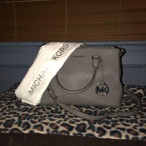 Grey Michael Kors Satchel/Crossbody Bag